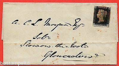 """SG. 2. A1 (2). AS15. """" OH """". 1d Black. Plate 2. A fine used example on cover."""