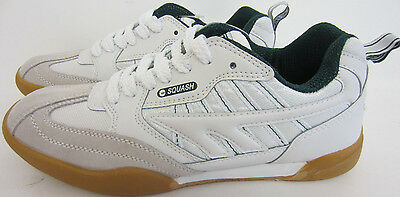 Hi Tec Squash Classic Leather Trainers White Green UK6-14 (R25B)