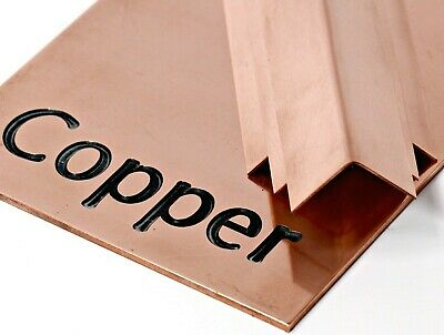 COPPER Sheet Plate - 8 Different Thicknesses & 23 Popular Sizes