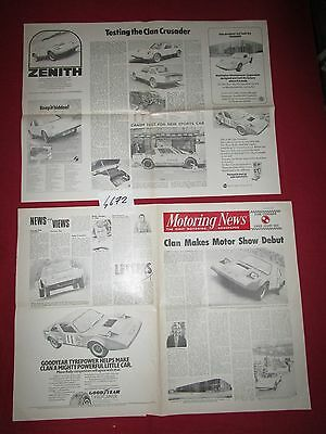 N°4672 /  CLAN crusader earls court 1972 dépliant motoring news