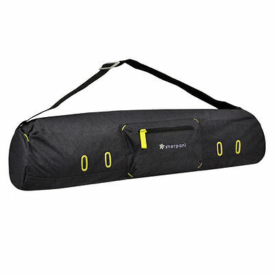 SHERPANI Spree Zippered Yoga Mat Carrier Bag HEATHERED BLACK One Size NWT!