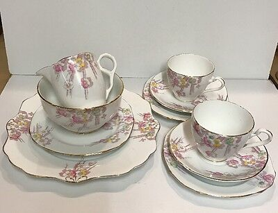 Vintage Royal Stafford Bone China Tea For Two Set