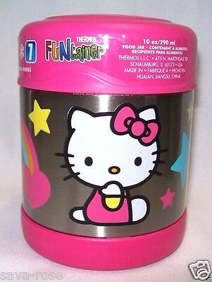 NWT 10oz HELLO KITTY Thermos Funtainer Insulated Stainless Steel Food Jar PINK