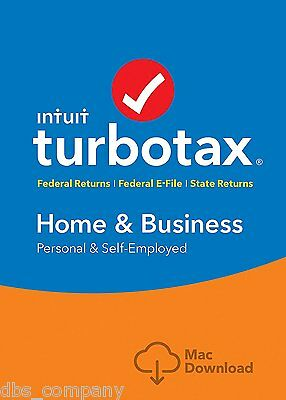 TurboTax Home & Business 2016 Tax Federal & State Efile for MAC INSTANT DOWNLOAD