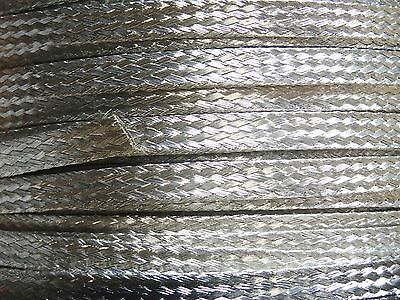 "25 Ft' Flat Braided Tinned Copper Wire 1/4"" Wide Ground Strap USA"