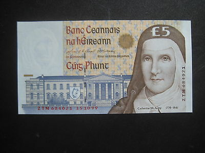 IRELAND, BANK OF IRELAND 1992-96 ISSUE - £5 DATED 15.10.99 P75b - UNCIRCULATED