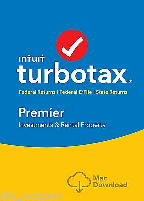 TurboTax Premier 2016 Tax Federal & State Efile for MAC INSTANT DOWNLOAD