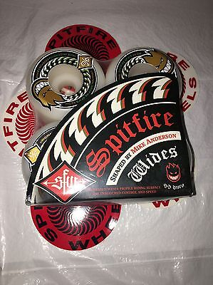 Brand New 53mm Spitfire Mike Anderson Wides 99 du Skateboard Wheels