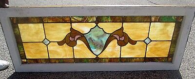 Antique Stained Glass Transom Window Arts & Crafts Classic Design  # 624