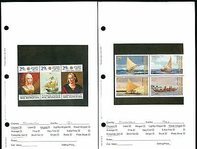 Lot of 23 Sets Sheets & Singles Micronesia MNH Mint & MH Hinged Stamps #83600 X