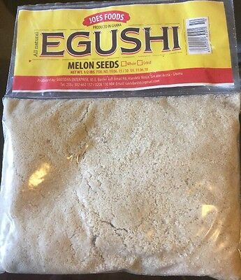 New Egusi Grounded Melon Seeds Product Of Ghana All Natural 8 Oz