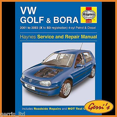 4169 Haynes VW Golf & Bora 4-cyl Petrol & Diesel (2001 - 2003) Workshop Manual