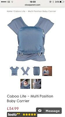Close Caboo Lite Baby Sling/carrier In Blue- Excellent Condition