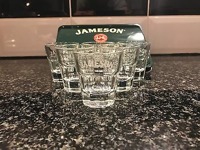 Jameson's Whiskey Hot Toddy Tin And 6x Tumbler Shot Glasses Pub Shed Bar Cave