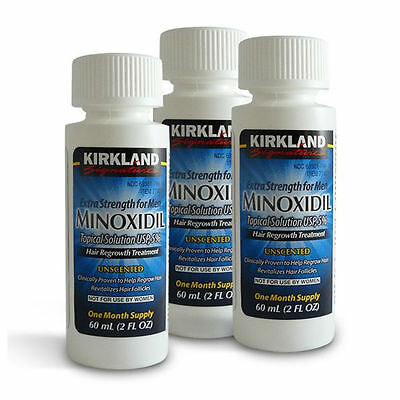 3 Months 5% Minoxidil Extra Strength Men Hair Regrowth Kirkland