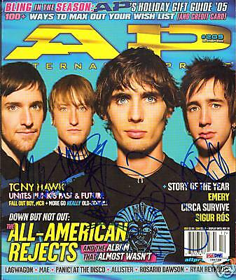 All-American Rejects Signed Auto'd Magazine PSA/DNA COA