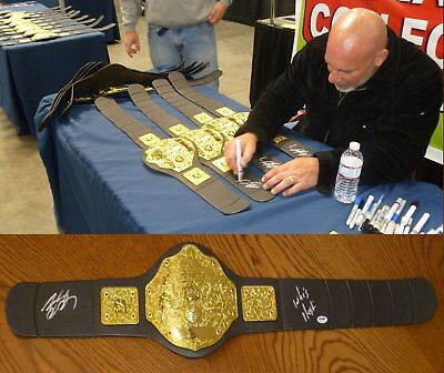Bill Goldberg Signed WWE World Championship Toy Belt PSA/DNA COA WCW Autograph
