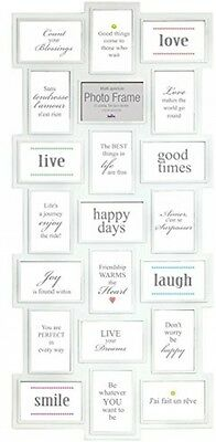 Innova Editions Multi Aperture Opening / Collage Picture Frame For 21 Photos /