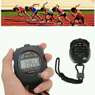 Digital Handheld Sports Stopwatch Stop Watch Timer Alarm Counter