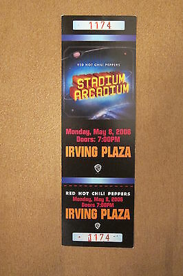 Red Hot Chili Peppers - NYC 2006 Unused Ticket. Private Event.