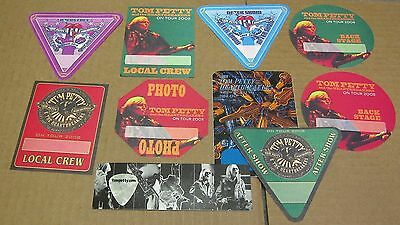Tom Petty - Assortment of 9  Backstage Passes and guitar pick