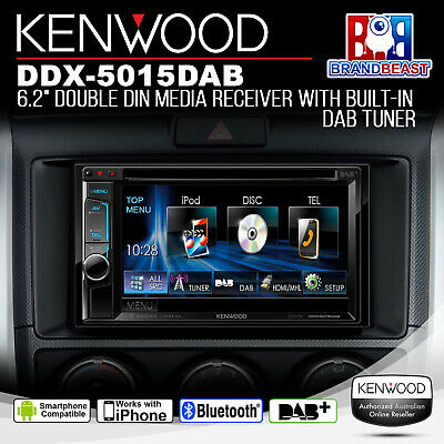 "Kenwood Ddx5015dab 6.2"" Dvd Screen Bluetooth Usb Dab+ Mode Android Iphone"