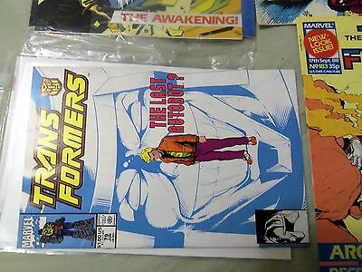 transformers comics #79 and 3 transformers magazines vf to nm
