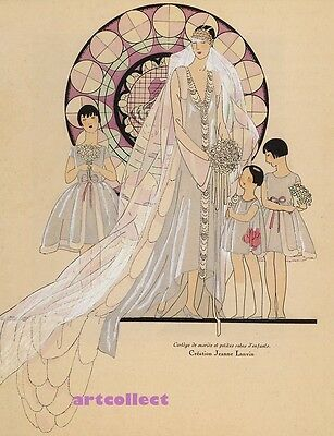 Image: Jeanne Lanvin (1926). Vintage Fashion. NOT FROM ORIGINAL PUBLICATION.