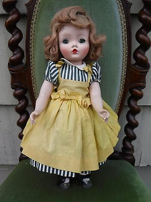 "Vintage Madame Alexander 17"" Binnie Walker Doll Tagged Dress  *issues*"