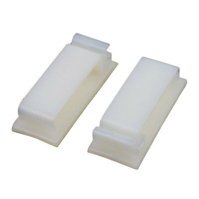 2 Pcs FC-30 Double Side Self Adhesive Cable Ties Wire Orgnizer Clip Off-White