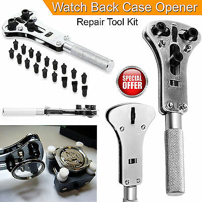 Watch Repair Back Case Opener Wrench Screw Cover Remover Tool Kit New UK Seller
