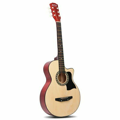 "38"" Inch Acoustic Guitar Wooden Folk Classical Cutaway Bag Natural Christmas"