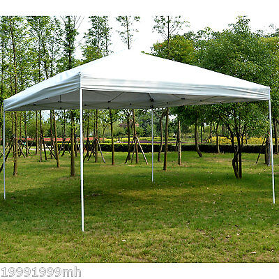 Outsunny 13'x 13' Gazebo Party Tent Pop-up Canopy Outdoor Sun Shade White W/ Bag