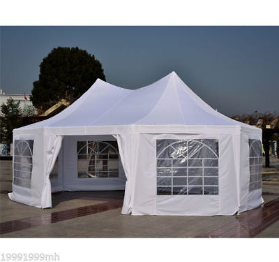 Outsunny 22ft Octagonal Party Tent Wedding Event Gazebo Canopy Removable Walls