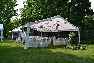 Outsunny 32'x 20' Garage Canopy Wedding Party Tent Pavilion Carport w/ Sidewalls