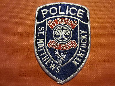 Collectible Kentucky Police Patch St. Matthews New