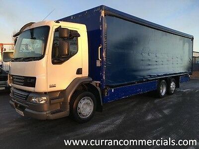 08 Daf LF 26 Ton 6x2 on air 26ft Curtainsider with tail lift