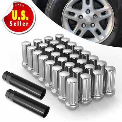 20 Red Aluminum Spike Tuner Extended Lug Nuts fits Toyota M12X1.5 Wheels Rims