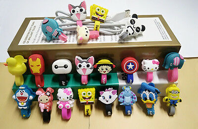 5Pcs Cute Lovely Earphone Wire USB Cable Cord Winder Wire Cable Holder Organizer