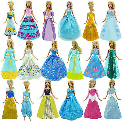 Fairy Tale Princess Dress Daily Outfit Gown COPY Clothes For Barbie Doll Frozen