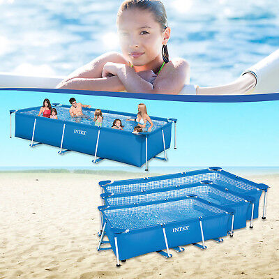 Intex Family Schwimmbad Swimming Pool  Familienpool Schwimmbecken Rechteck Frame
