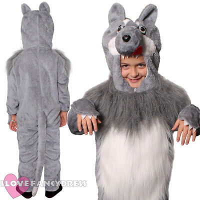 Child Wolf Costume Animal Fancy Dress Boys Girls School Book Week Character