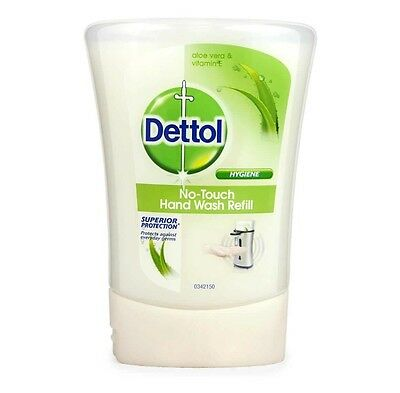 5 x Dettol No Touch Refill Hand Wash Aloe Vera Soap Anti Bacterial Hygiene 250ml