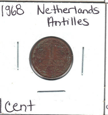 Netherlands Antilles 1968 1 Cent Coin