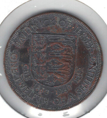 Jersey 1960 1/12 Shilling Coin