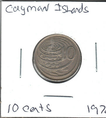 Cayman Islands 1972 Xf 10 Cent Coin