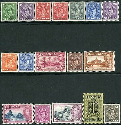 ST LUCIA-1938-48 Set to £1 Sg 128-141 MOUNTED MINT V14461