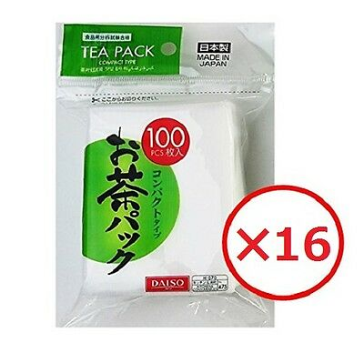 Tea Bag Filter 16×100pcs Green Tea Matcha coffee Herbal Filter Bag Daiso Japan