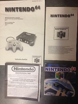 Instruction Manual & Other Various Leaflets For The Nintendo 64 Games Console