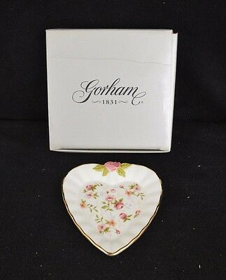 Gorham Forever Roses - Heart Dish - New In Box - 1831